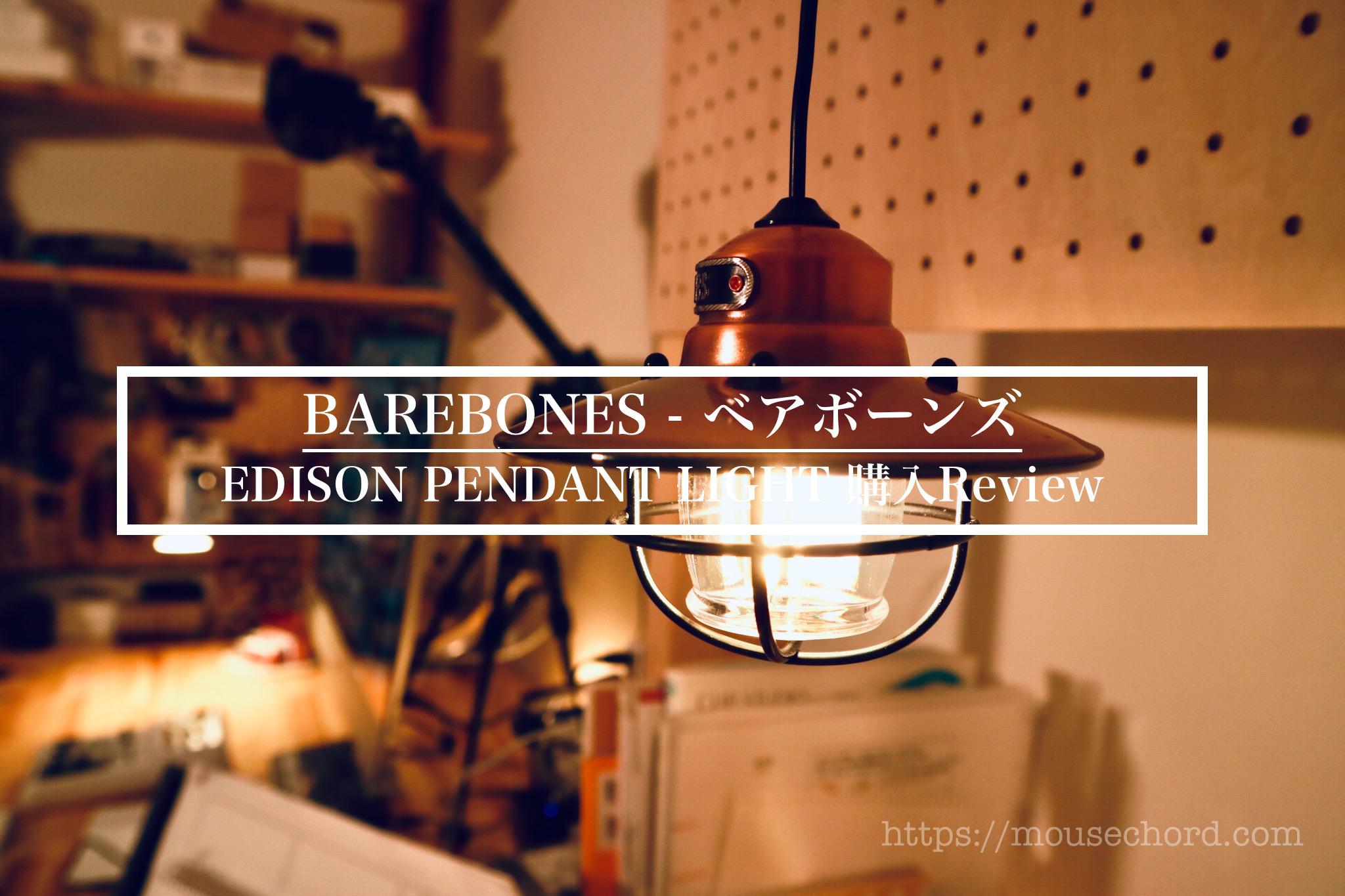 Barebones Edison Pendant Light購入review Mousechord Com